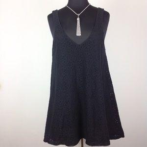 Show Me Your Mumu Samantha Black Lace Tank Dress L